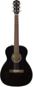 Fender CT-60S Acoustic Guitar - Travel Body Style - Black Finish