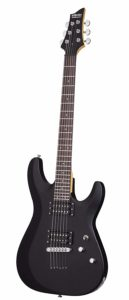 Schecter C 6 Deluxe SBK Electric Guitar Satin Black