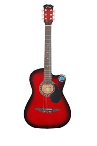 Jixing JXNG 6 Strings Acoustic Guitars With Combo (Red Sunburst)