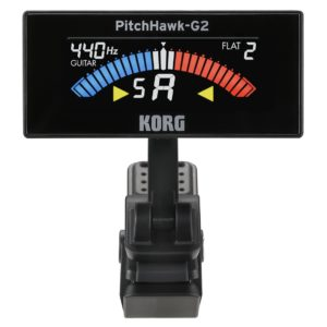 Korg AW3G2BK PitchHawk G2 Clip-On Guitar Tune
